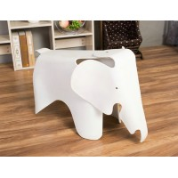 Eames Elephant Lounge Chair in White