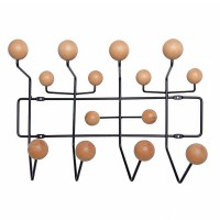Eames style hang it all in Ash with black steel