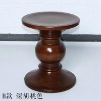 Eames Style Walnut Stool in Light Walnut of C