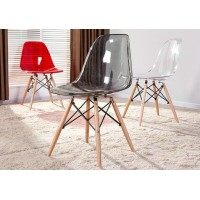 Transparent DSW Eames style dining chair