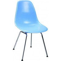 DSR Eames Style armed dining Chair with simple steel legs