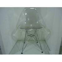 Transparent DSR Eames style dining chair
