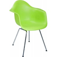DAR Eames Style armed dining Chair with simple steel legs