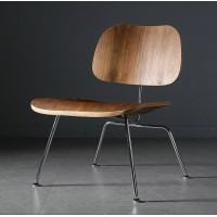 Eames Style LCM plywood dining Chair in walnut