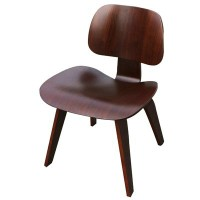 Eames Style DCW plywood dining Chair in Rosewood
