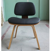 Eames Style DCW plywood dining Chair in PU leather