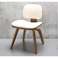 Eames Style DCW plywood dining Chair in Fabric