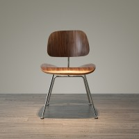 Eames Style DCM plywood dining Chair in walnut