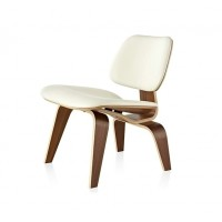Eames Style LCW plywood dining Chair in PU leather