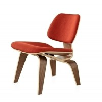 Eames Style LCW plywood dining Chair in Fabric