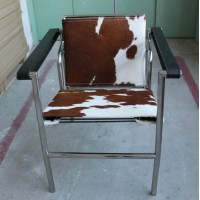 Le Corbusier Style LC1 Sling Chair, pony skin or Cowhide