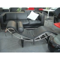 Le Corbusier Style Chaise Lounge Chair Lc4 In Top Grain Leather