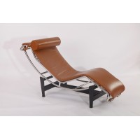 Le Corbusier Style Chaise Lounge Chair Lc4 In Full Italian Leather