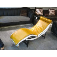Le Corbusier Style Chaise Lounge Chair Lc4 In Nappa Leather