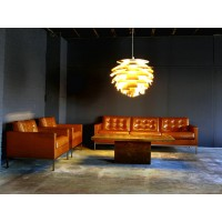 Florence Knoll Sofa,One Seat,Armchair, Made In Real Calf Leather
