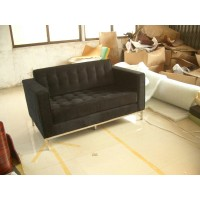 Florence Knoll Sofa,Two Seats,Loveseat, Made In Fabric