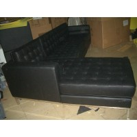 Florence Knoll Corner Sofa, Made In Real Calf Leather