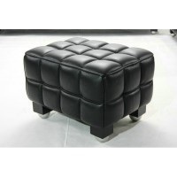 Hoffman Kubus Ottoman in Real calf leather