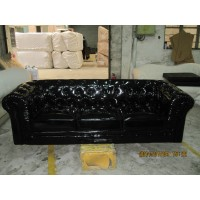 Chesterfield Sofa,3 Seaters In Fabric Or PU Leather