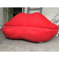 Lip lips Sofa 3 Seaters in wooden frame version