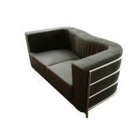 Onda Loveseat Sofa in Real calf leather