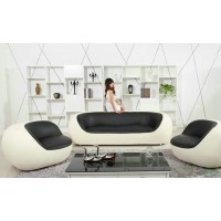 Scoop Sofa Set Made In Leather