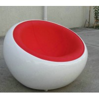 Scoop Chair In Real Calf Leather