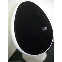 Pod egg chair in aluminium shell for kids