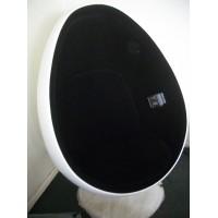 Pod egg chair in aluminium shell for kids