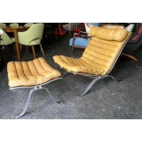 Arne Norell Lounge Chair and Ottoman