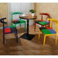 Hans Wegner Style Elbow Horn Chair in Steel