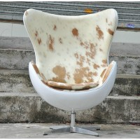 Pony skin cowhide egg chair