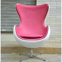 Egg chair in fiberglass shell