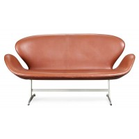 Swan sofa in real calf leather