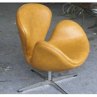 Swan Chair in Real calf leather