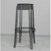Kartell Style Ghost Bar Stool,Large size in transparent black color