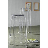 Kartell Style Ghost Bar Stool,Medium size