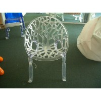 Kartell Style Ghost Tree Chair in clear color